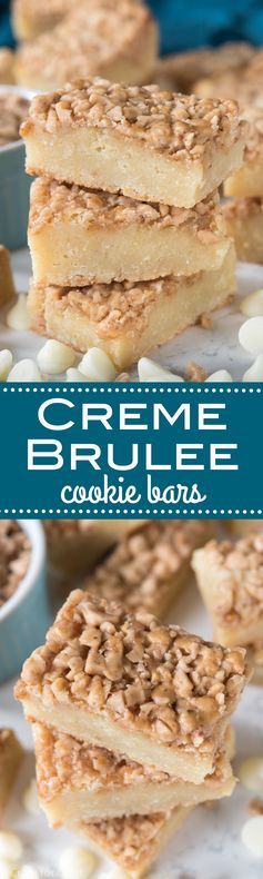 Creme Brulee Cookie Bars