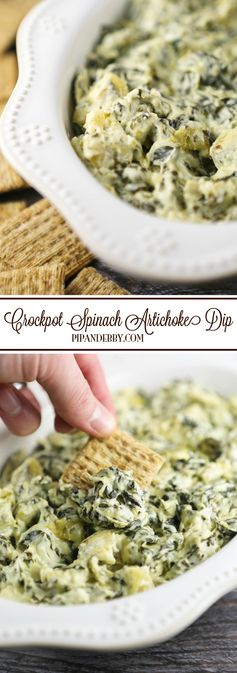 Crockpot Spinach Artichoke Dip