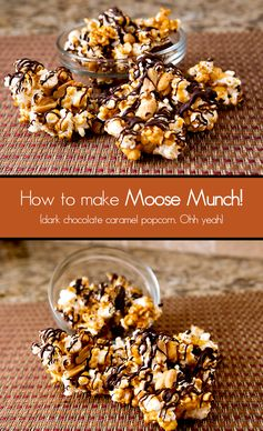 Dark Chocolate Caramel Popcorn (Moose Munch Copycat