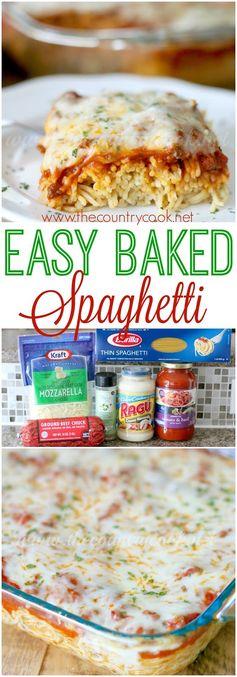 Easy Baked Spaghetti (Spasagna