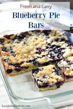 Easy Blueberry Pie Bars