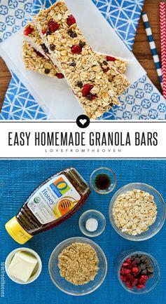 Easy Granola Bars