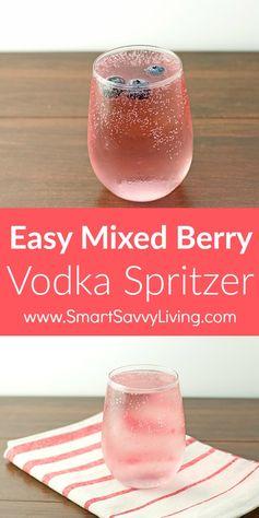 Easy Mixed Berry Vodka Spritzer