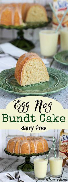 Eggnog Bundt Cake Recipe | A Non-Dairy Holiday Dessert