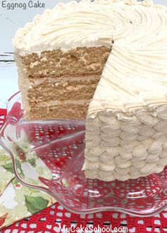 Eggnog Cake with Eggnog Buttercream Frosting