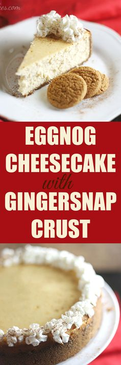 Eggnog Cheesecake with Gingersnap Crust