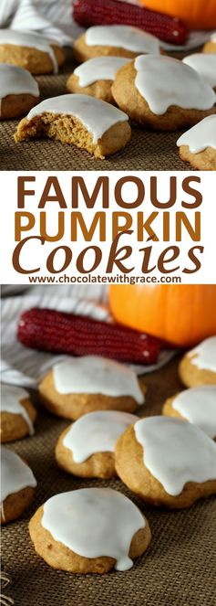 Famous Soft Glazed Pumpkin Cookies