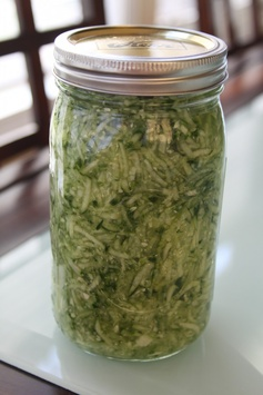 Fermented Spicy Cucumber 'Kraut'