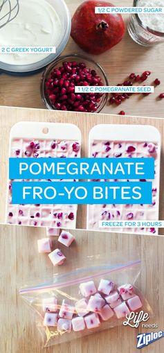 Frozen Greek Yogurt and Pomegranate Bites
