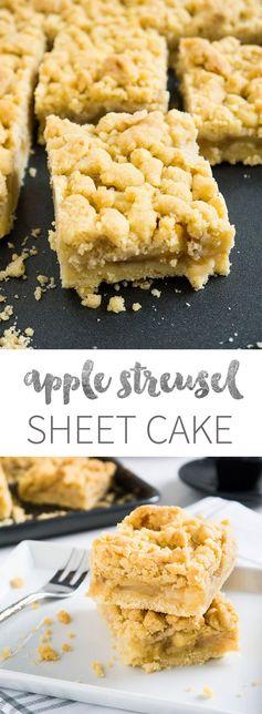 German Apple Streusel Sheet Cake