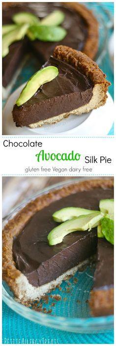 Gluten Free Chocolate Avocado Banana Silk Pie