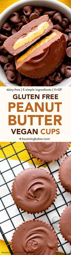 Gluten Free Vegan Peanut Butter Cups (V, GF, DF