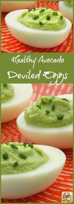 Healthy Avocado Deviled Eggs