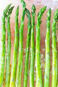 Himalayan Salt Block Asparagus
