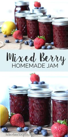 Homemade Mixed Berry Jam