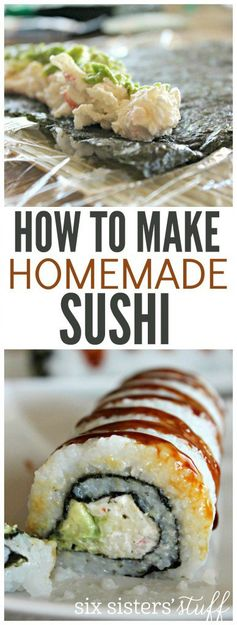 How to Make Homemade Sushi (Crab Sushi