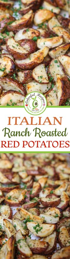 Italian Ranch Roasted Red Potatoes