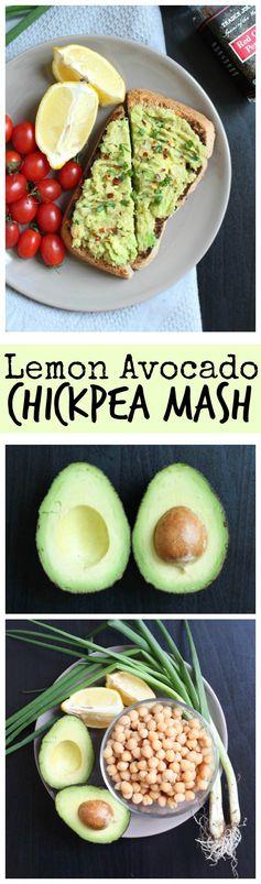 Lemon Avocado Chickpea Mash