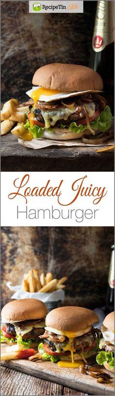 Loaded Beef Hamburgers