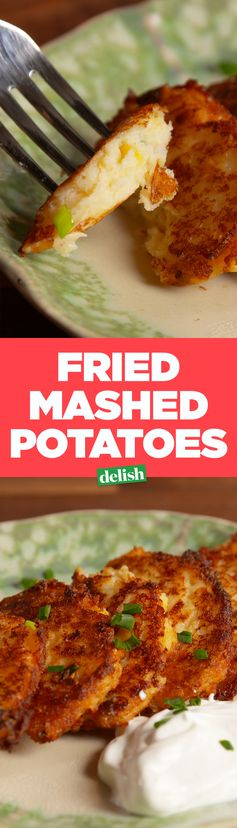 Loaded Fried Mashed Potatoes