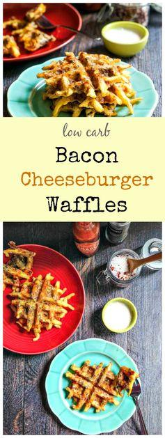Low Carb Bacon Cheeseburger Waffles