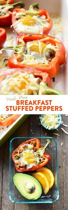 Meal Prep: Breakfast Stuffed Peppers