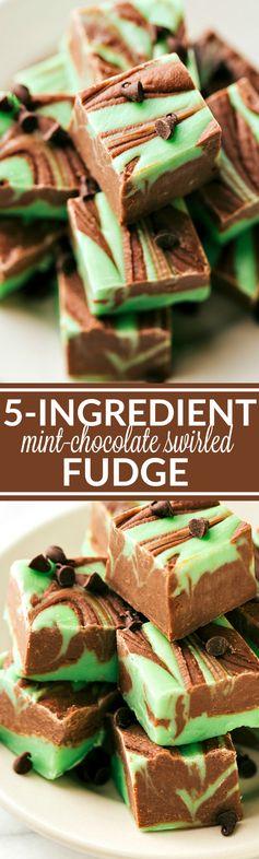 Milk Chocolate & Mint Swirled Fudge
