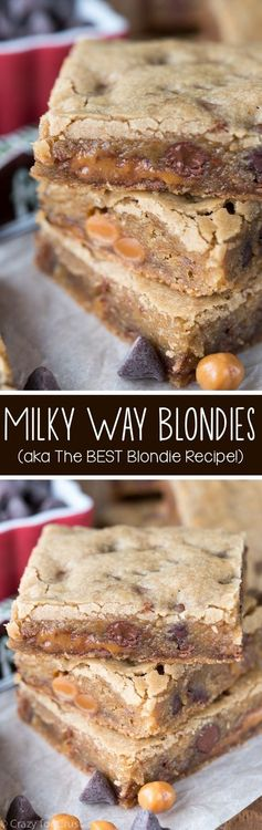 Milky Way Blondies (aka The BEST Blondie