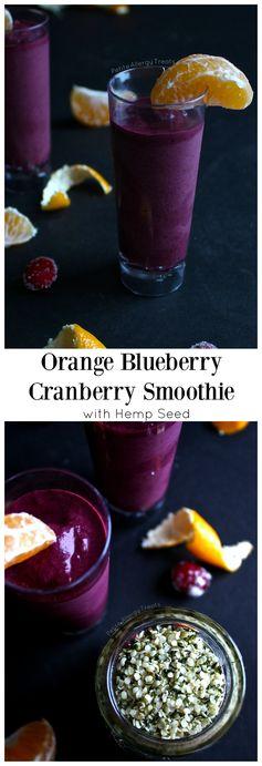 Orange Blueberry Cranberry Smoothie