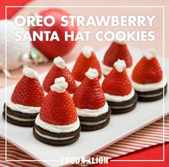 OREO Strawberry Santa Hat Cookies