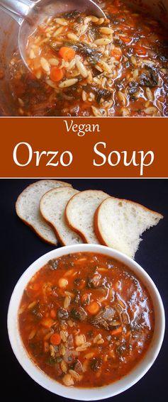 Orzo Soup Recipe (Vegan
