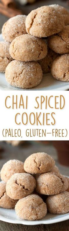 Paleo Chai Spiced Cookies (grain-free, gluten-free, dairy-free