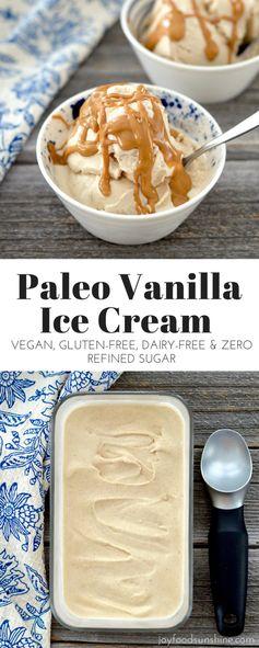 Paleo Vanilla Almond Butter Ice Cream