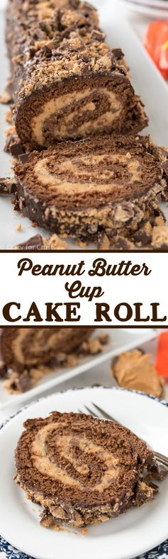 Peanut Butter Cup Cake Roll