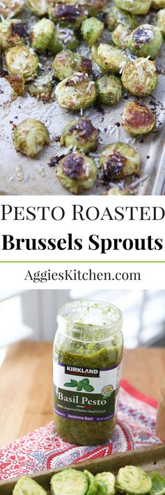 Pesto Roasted Brussels Sprouts