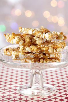 Popcorn Cashew Brittle