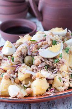 Portuguese Tuna, Potato and Chickpea Salad