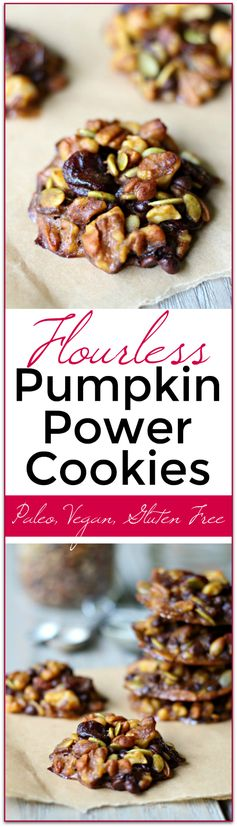 Pumpkin Power Cookies - Flourless! (Paleo, Gluten Free, Vegan