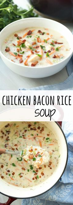 (Quick Chicken Bacon Rice Soup