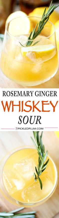Rosemary Ginger Whiskey Sour