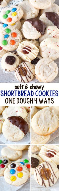 Shortbread Cookies (one dough 4 ways