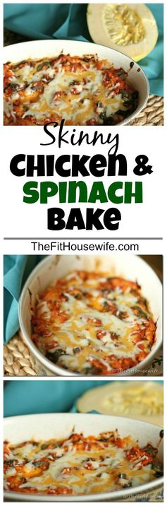 Skinny Chicken and Spinach Bake