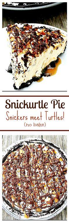 Snickurtle Pie: Snickers meet Turtles