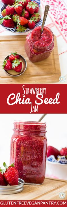 Strawberry Chia Seed Jam - Super Easy Sunday