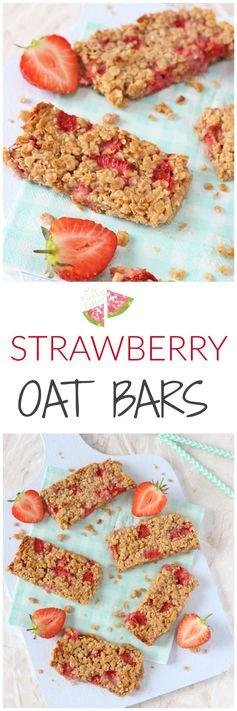 Strawberry Oat Bars