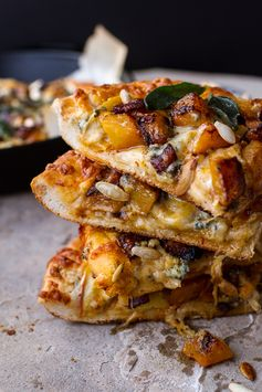 Sweet 'n' Spicy Fall Harvest Pizza w/Roasted Butternut, Cider Caramelized Onions + Bacon