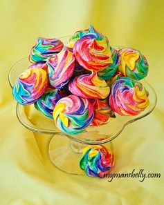 Sweet Easy Rainbow Meringue Cookies AKA Unicorn Farts
