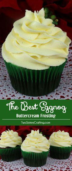 The Best Eggnog Buttercream Frosting
