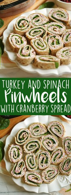 Turkey Pinwheels with Cranberry Spread