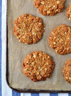 Vegan Chewy Coconut-Oat Cookies